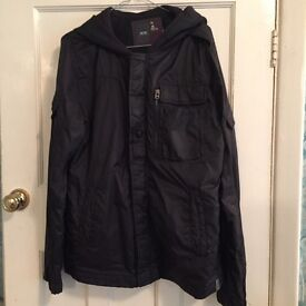 G-STAR BLACK JACKET WITH HOOD - EXCELLENT CONDITION
