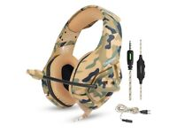 PS4 XBOX Gaming Headset Camouflage NEW