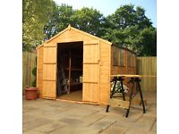 Shed, Brand new, Apex roof 10 x 8 delivered for £599.99