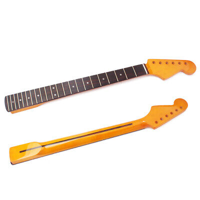 22 Frets Yellow Gloss Maple Guitar Neck for ST Strat 57mm Rosewood Fingerboard