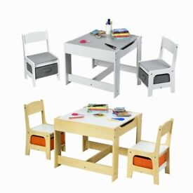 3 IN 1 Kids Activity Table Chairs Set BB5518