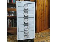 Bisley 10 drawer filing cabinet. Bristol- off M32