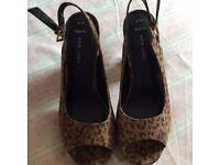 Leopard print sandals size 6
