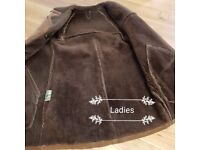 Ladies real sheepskin coat