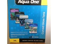 Fish Tank Aquarium 34 ltr - Fresh or Salt water fish
