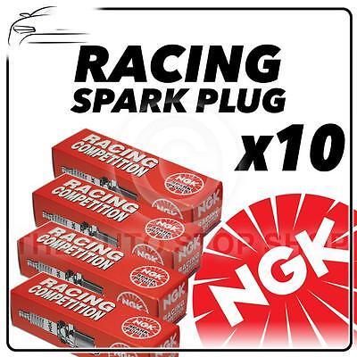 10 x NGK Racing Spark Plugs Numero R7437-9 Stock No. 4654 Originale Candele