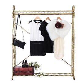 28ea696eea4b High Quality Retro Vintage Clothes Rack Stand Shop Fitting Clothes Rail