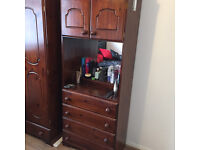 DRESSING TABLE WITH STORAGE & SELF STANDING WARDROBE
