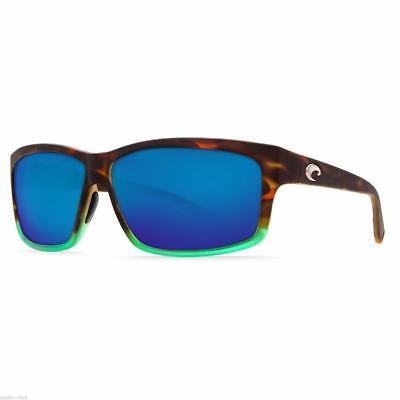 febf24ca82 New Costa Del Mar Cut Polarized Sunglasses 580P Tortuga Fade Blue Mirror  Fishing