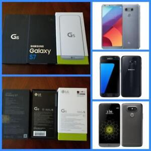 Brand New Sealed in Box LG-G5 ($350)/LG-G6 ($550)/Samsung Galaxy S7 ($500)!!!Unlocked for any Carrier!! WIND/Freedom!!!
