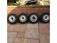 4 Steel Wheels and Tyres for sale
