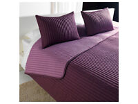 Ikea Karit Bedspread and 2 cushion covers - Purple - NEW