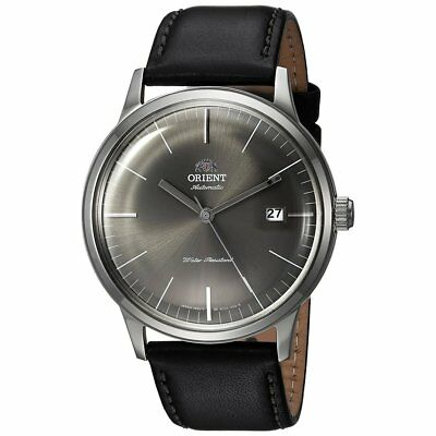Orient FAC0000CA 2nd Gen. Bambino Version 3 Grey Dial Black Leather Band Watch