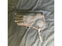 "Falconry Glove, Three Layers Nubuck Leather, 12"" length"