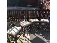 Four vintage chairs
