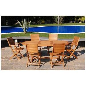 Tavolo in legno da giardino esterno cm 200 ebay - Tavolo legno da esterno ...