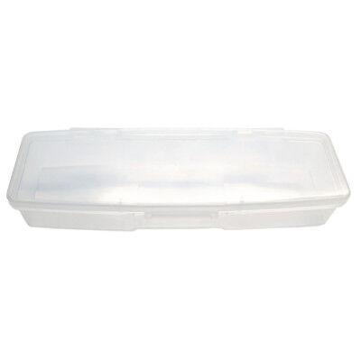 1pc Small Plastic Manicurists Personal Box Storage Case Container White