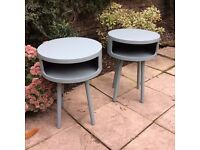 Habitat - Grey Bumble Side Tables