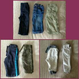 Boys age 6-9 months trousers bundle - 7 pairs