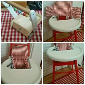 Ikea high chair /free walker as new