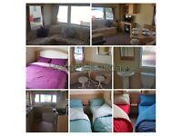 Pet friendly deluxe caravan to rent at Primrose Valley.