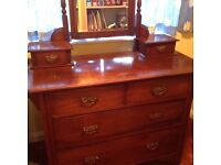 Antique dressing table. Lovely in a cottage setting.