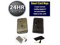 Renault Megane Grand Scenic Laguna Clio Replacment Programmed Key Card / Smart Keycard   Locksmith