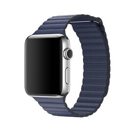APPLE WATCH 42MM MIDNIGHT BLUE LEATHER LOOP STRAP