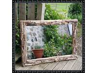 A Very Large Driftwood Mirror