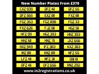 Short Vehicle Number Plate from £370 including transfer with same day transfer available