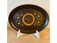 Vintage Denby platter in arabesque pattern