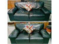 Black leather 3 & 2 in vgc can deliver 07808222995