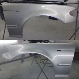 BMW E46 SALOON PAIR OF WINGS 2001-2005 PAINTED TITAN SILVER 354 BRAND NEW