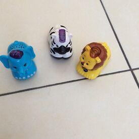 Vtech toot toot animals elephant, lion, zebra