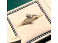 Ever Us 14ct White Gold 3/4 Carat Two Stone Diamond Ring (Size O)