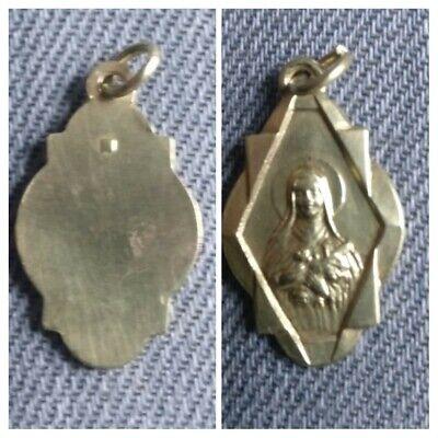 Pendant / Medal Religious Antique Sainte Marie/ Art-Déco