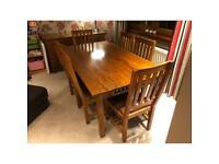 John Lewis dark oak furniture, dining and living room