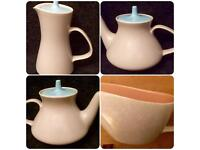 Poole Pottery Twintone 1960s x 4 pieces