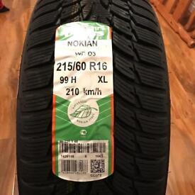Bargain - Nokian New Mud+Snow/winter Tyres 215 60 R16