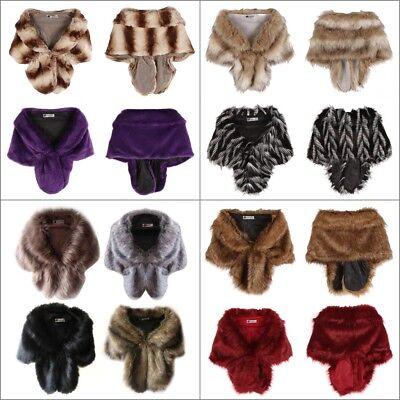 Women Warm Scarf Collar Faux Fur Scarves Long Shawl Stole Wrap Shrug Scarf Tops Long Collar Scarf