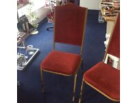 FOUR MATCHING CHAIRS IDEAL FOR VENUES
