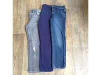 3 pairs of boys jeans age 9-10