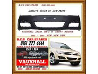 VAUXHALL ASTRA H FRONT BUMPER NEW 2005 2006 2007 ( READY TO PAINT )