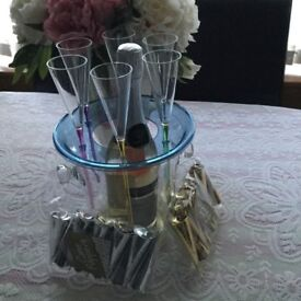 WINE GLASSES AND WINE COOLER IN BOX-GET READY TO PARTY!!