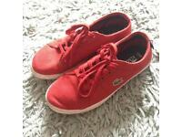 Boys Lacoste Trainers Size 1