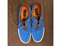 Ralph Lauren blue canvas shoes size 9