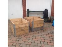 Ideal raised veggie beds. Box sections, folds flat great as planters/veg beds