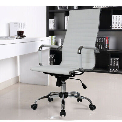 High Back Office Computer Chair Swivel Leather Adjustable Ergonomic Desk Seat