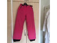 Women's/ girls ski pants pink