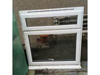 White uPVC window. Used. Lockable. 1 key.